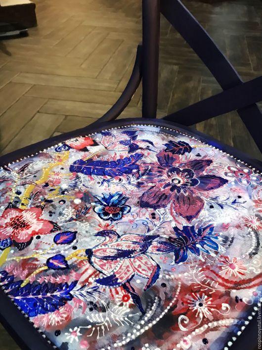 Мебель ручной работы. Ярмарка Мастеров - ручная работа. Купить Зимние цветы. Handmade. Тёмно-синий, удобный, для интерьера