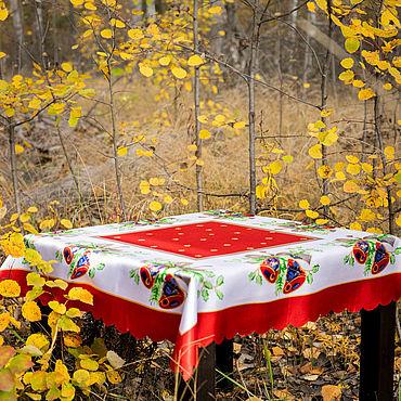 Текстиль ручной работы. Ярмарка Мастеров - ручная работа Скатерть  новогодняя. Handmade.