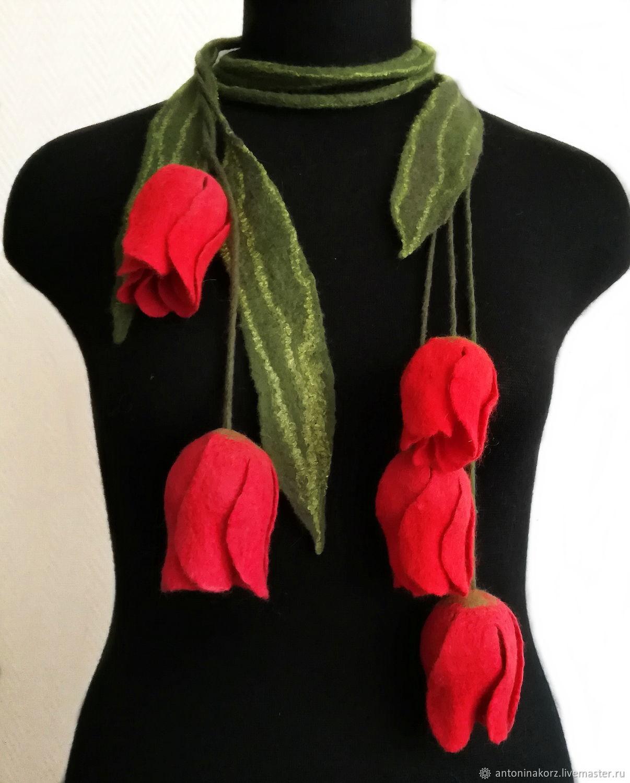 Valena necklace - belt Tulips, Necklace, Shahty,  Фото №1