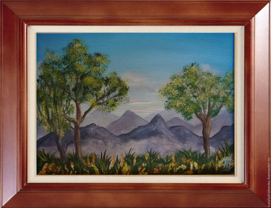 """Пейзаж ручной работы. Ярмарка Мастеров - ручная работа. Купить Картина """"Альпийские луга"""". Handmade. Картина в подарок, лето"""
