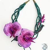 """Украшения ручной работы. Ярмарка Мастеров - ручная работа Колье """"Орхидеи"""". Handmade."""