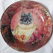 """Посуда ручной работы. Ярмарка Мастеров - ручная работа Декоративная тарелка """"Графиня Шарлотта"""". Handmade."""