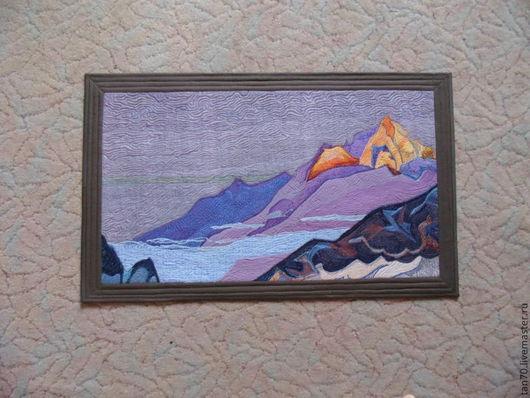 """Пейзаж ручной работы. Ярмарка Мастеров - ручная работа. Купить Текстильное панно """"Гималаи"""". Handmade. Панно, горы, синтепон"""