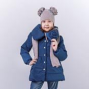 Работы для детей, ручной работы. Ярмарка Мастеров - ручная работа Комплект пальто, шапка и шарф. Handmade.