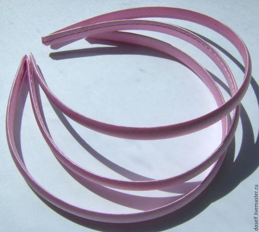 Для украшений ручной работы. Ярмарка Мастеров - ручная работа. Купить Бледно-Розовая Основа для ободка в атласе 1см. Handmade.