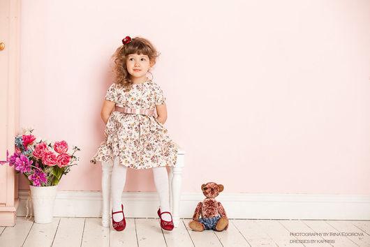 """Одежда для девочек, ручной работы. Ярмарка Мастеров - ручная работа. Купить Детское платье """"Букетики"""". Handmade. Платье для девочки, винтаж"""