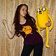 Сказочные персонажи ручной работы. Ярмарка Мастеров - ручная работа. Купить Adventure Time Джейк большой (80 см). Handmade. Желтый