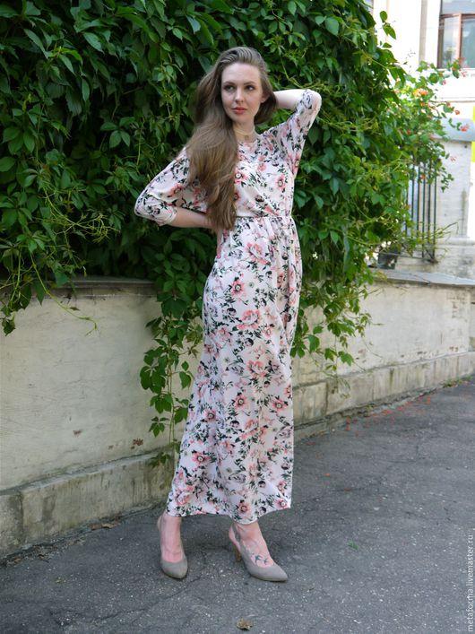Платья ручной работы. Ярмарка Мастеров - ручная работа. Купить Платье в пол PROVENCE. Handmade. Кремовый, дизайнерская одежда