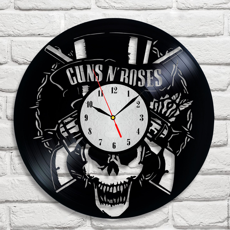 """Часы из пластинки """"Guns N' Roses"""", Часы, Екатеринбург, Фото №1"""