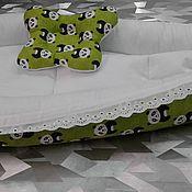 Комплекты одежды ручной работы. Ярмарка Мастеров - ручная работа Кокон - гнездышко для новорождённых двухсторонний.. Handmade.
