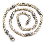 Украшения handmade. Livemaster - original item Chain: Silver chain Arab BISMARCK with inserts. Handmade.