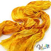 Аксессуары handmade. Livemaster - original item Scarf silk Sun - batik. Handmade.