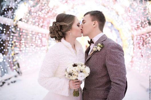 Свадебные цветы ручной работы. Ярмарка Мастеров - ручная работа. Купить Букет невесты / Зимний свадебный букет. Handmade.