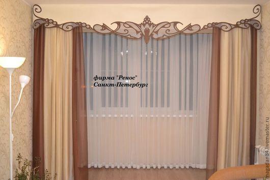 Текстиль, ковры ручной работы. Ярмарка Мастеров - ручная работа. Купить шторы для гостиной. Handmade. Лимонный, ламбрекен, вуаль, шторы