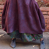 "Одежда ручной работы. Ярмарка Мастеров - ручная работа Юбка валяная ""WINTER PLUM"". Handmade."
