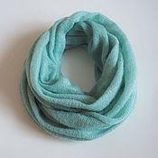 Аксессуары handmade. Livemaster - original item Snood knitted from kid mohair (in two turns). Handmade.