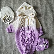 Комбинезоны ручной работы. Ярмарка Мастеров - ручная работа Комбинезон для новорожденного. Handmade.