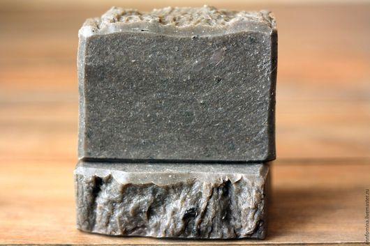 Мыло ручной работы. Ярмарка Мастеров - ручная работа. Купить Мыло грязевое, сульфидно-иловое.. Handmade. Темно-серый