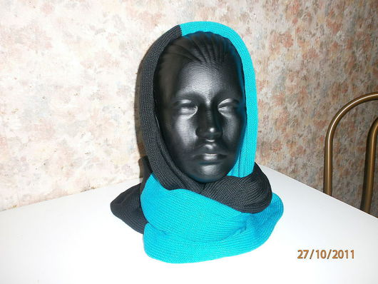Шапки ручной работы. Ярмарка Мастеров - ручная работа. Купить шарф-капюшон. Handmade. Подарок женщине, ручная работа