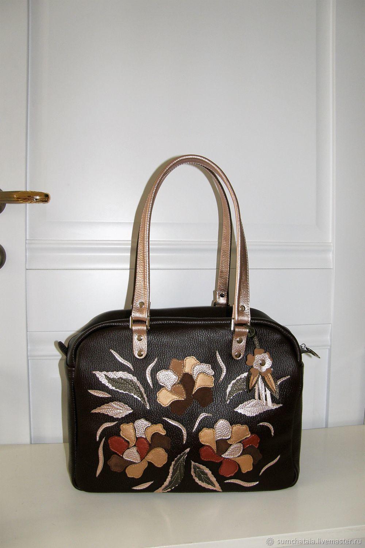 Bag leather 'Chocolate temptation', Classic Bag, Yaroslavl,  Фото №1