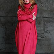 Одежда ручной работы. Ярмарка Мастеров - ручная работа Платье ASYMMETRIC NOODLES ROSE. Handmade.