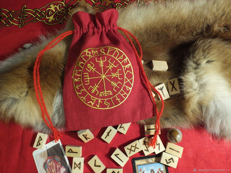 Мешочек льняной красный, Предметы быта, Пятигорск, Фото №1