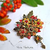 """Украшения handmade. Livemaster - original item Brooch """"Warm Autumn"""". Handmade."""