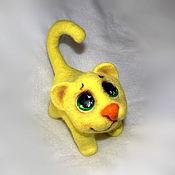 Куклы и игрушки ручной работы. Ярмарка Мастеров - ручная работа Котик желтый глазастик.. Handmade.