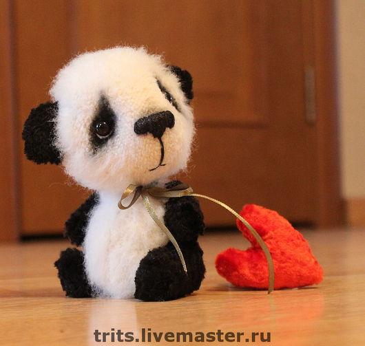 Мишки Тедди ручной работы. Ярмарка Мастеров - ручная работа. Купить Бамбо и плюшевое сердце. Handmade. Мишка, мишка в подарок