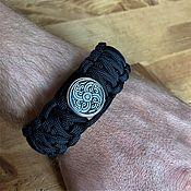 Украшения handmade. Livemaster - original item Scandinavian paracord bracelet (Mjolnir). Handmade.