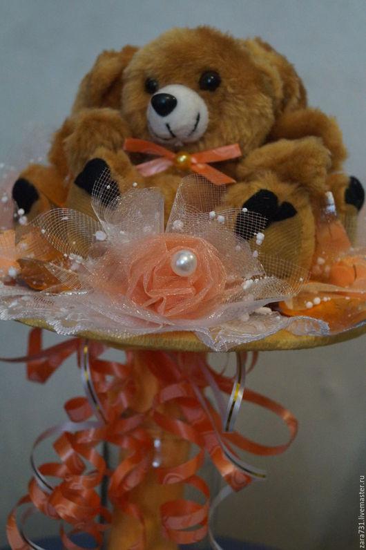 """Букеты ручной работы. Ярмарка Мастеров - ручная работа. Купить Букетик """"Три медведя"""". Handmade. Букет из игрушек, плюшевый букет"""