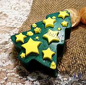 """Косметика ручной работы. Ярмарка Мастеров - ручная работа Мыло для рук """"Елочка со звездочками"""". Handmade."""