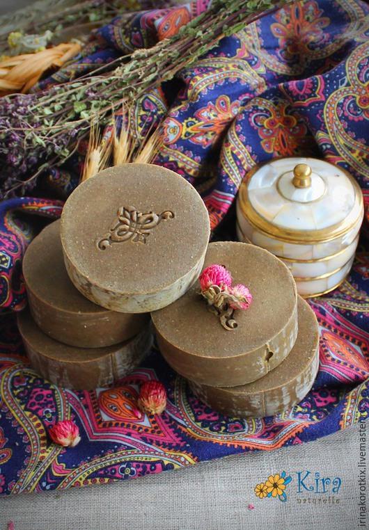 Мыло-шампунь ручной работы. Ярмарка Мастеров - ручная работа. Купить Индия, натуральное шампуневое мыло. Handmade. Коричневый