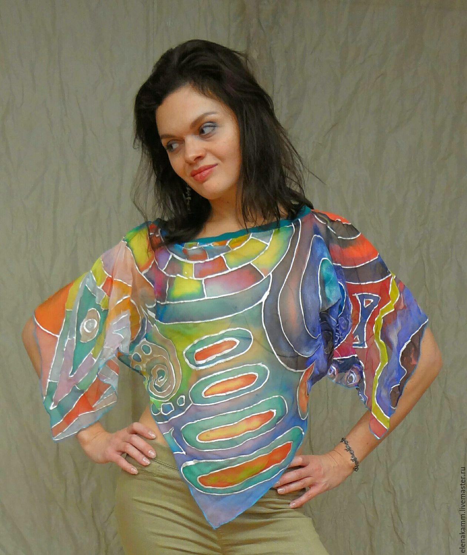 Блузка разноцветная доставка