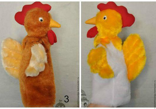 """Кукольный театр ручной работы. Ярмарка Мастеров - ручная работа. Купить """"Петух"""" Кукольный театр на руку. Handmade. Комбинированный, персонаж"""