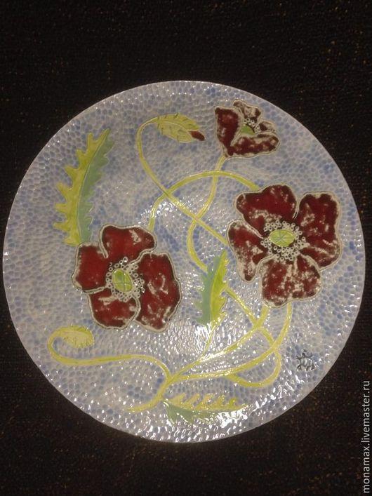 """Тарелки ручной работы. Ярмарка Мастеров - ручная работа. Купить Тарелка """"Маки"""". Handmade. Комбинированный, тарелка с маками, цветочная тарелка"""