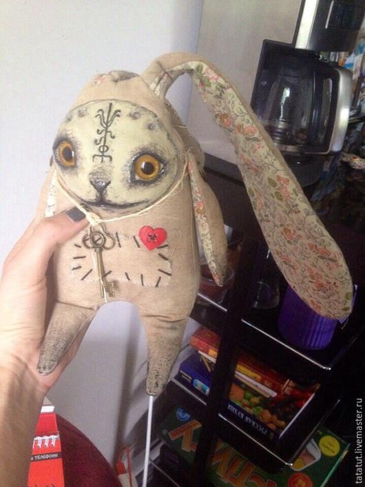 Игрушки животные, ручной работы. Ярмарка Мастеров - ручная работа. Купить Кофейный кролик. Handmade. Заяц, заяц текстильный
