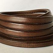 Материалы для творчества ручной работы. Ярмарка Мастеров - ручная работа Кожаный шнур регализ, коричневый. Handmade.