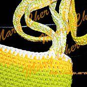 Сумки и аксессуары ручной работы. Ярмарка Мастеров - ручная работа Зеленая сумка летняя вязаная крючком. Handmade.
