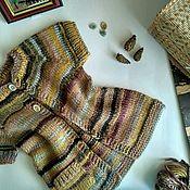 Работы для детей, ручной работы. Ярмарка Мастеров - ручная работа Вязанная жилетка для девочки. Handmade.