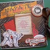 Открытки ручной работы. Ярмарка Мастеров - ручная работа Открытка для спортсмена-каратиста. Handmade.