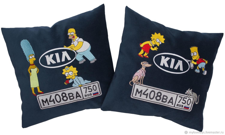 Автомобильные подушки с именной вышивкой 51