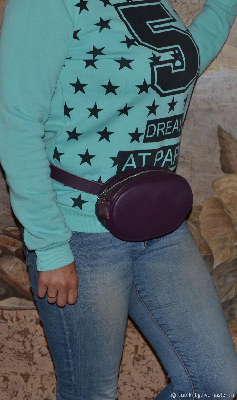 Waist bag leather Handbag genuine leather belt, Waist Bag, Bogorodsk,  Фото №1