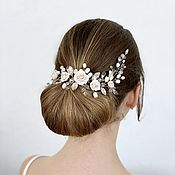 Свадебный салон handmade. Livemaster - original item Wedding hair jewelry and earrings