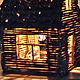 рустикальный стиль, рустик декор, уютный декор, ночник в детскую, декор из дерева, лесная тема, сказочный домик, миниатюра, подарок ручной работы, деревенский стиль, дачный домик,избушка