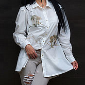 Одежда handmade. Livemaster - original item Unique blouse with hand embroidery