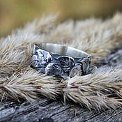 handmade. Livemaster - original item Silver ring Birch leaves. Handmade.