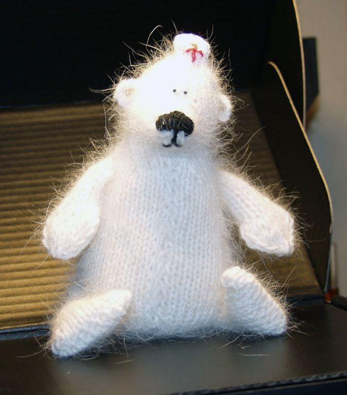 Купить Медведь белый, вязаный - авторский мишка, вязаная ...
