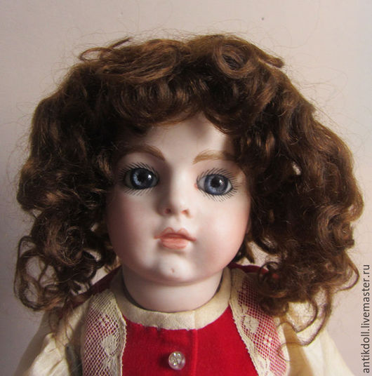 Куклы и игрушки ручной работы. Ярмарка Мастеров - ручная работа. Купить Винтажный мохеровый парик для антикварной куклы.. Handmade. Коричневый