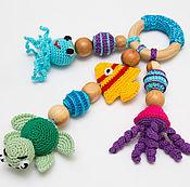"""Развивающая игрушка, грызунок, прорезыватель, погремушка """"Морской мир"""""""